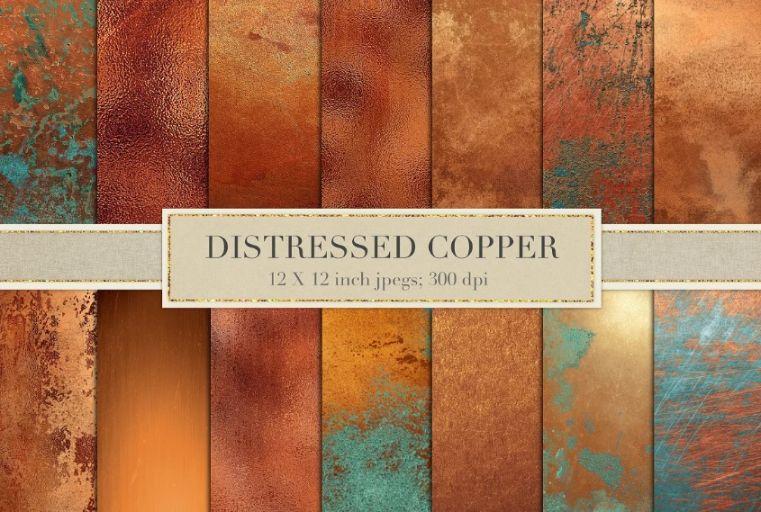 Creative Distressed Copper Textures
