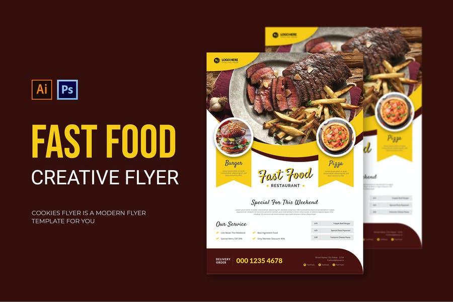 Creative Fast Food Poster Design