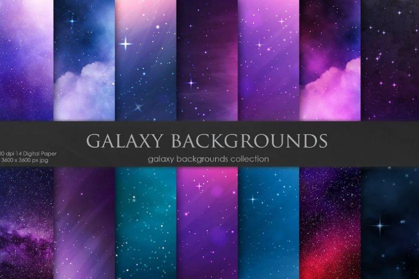 Creative Galaxy Sky Background Designs