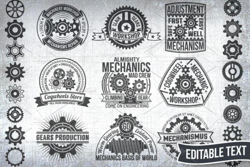 Creative Gears Logo Set
