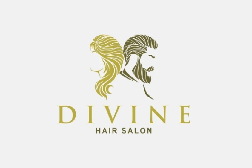 Creative Hair Salon Logo Design