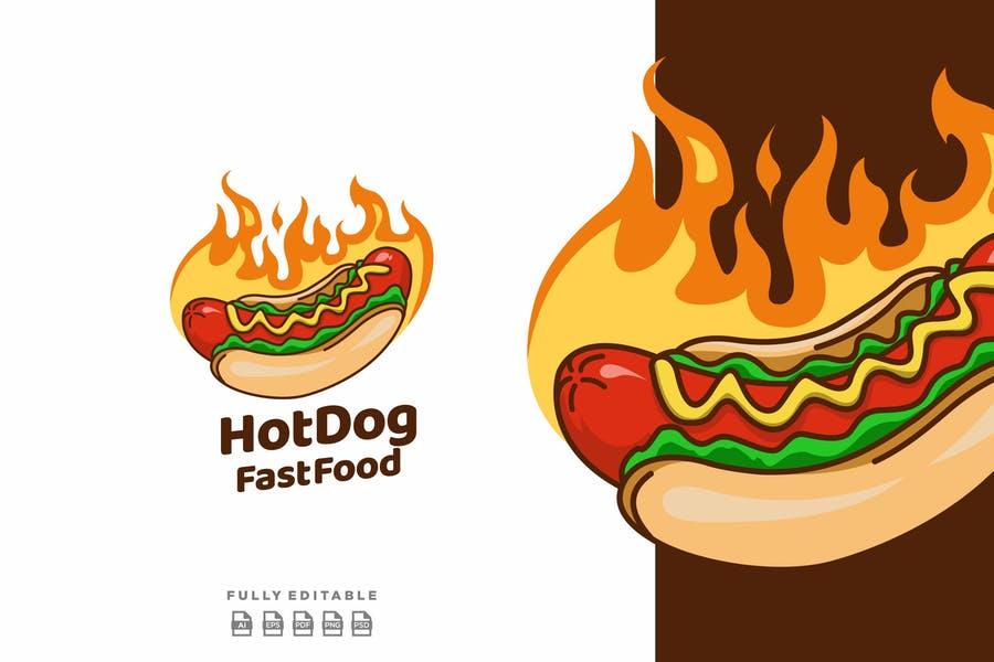 Creative Hot Dog Logo