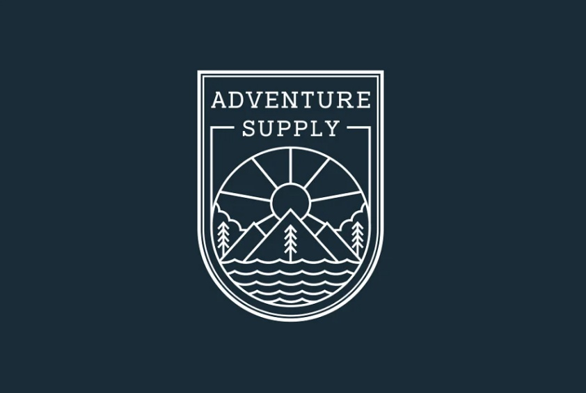 Creative Line Style Adventure Logo Set