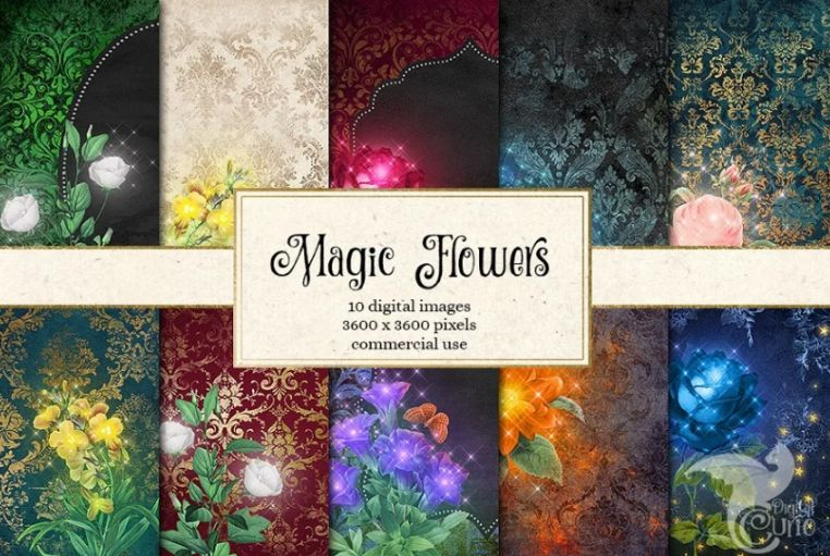 Creative Magic Flower Backgrounds