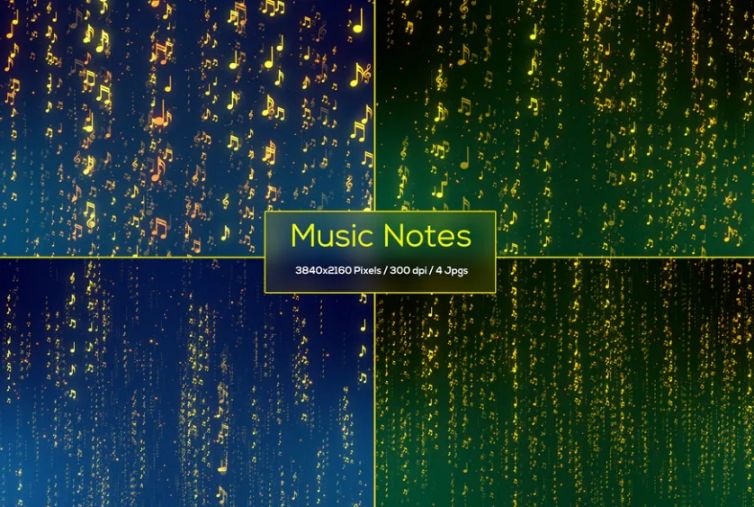Creative Music Notes Background