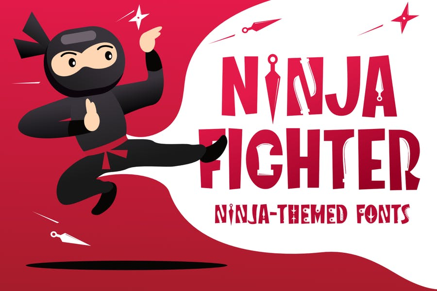 Creative Ninja Themed Fonts