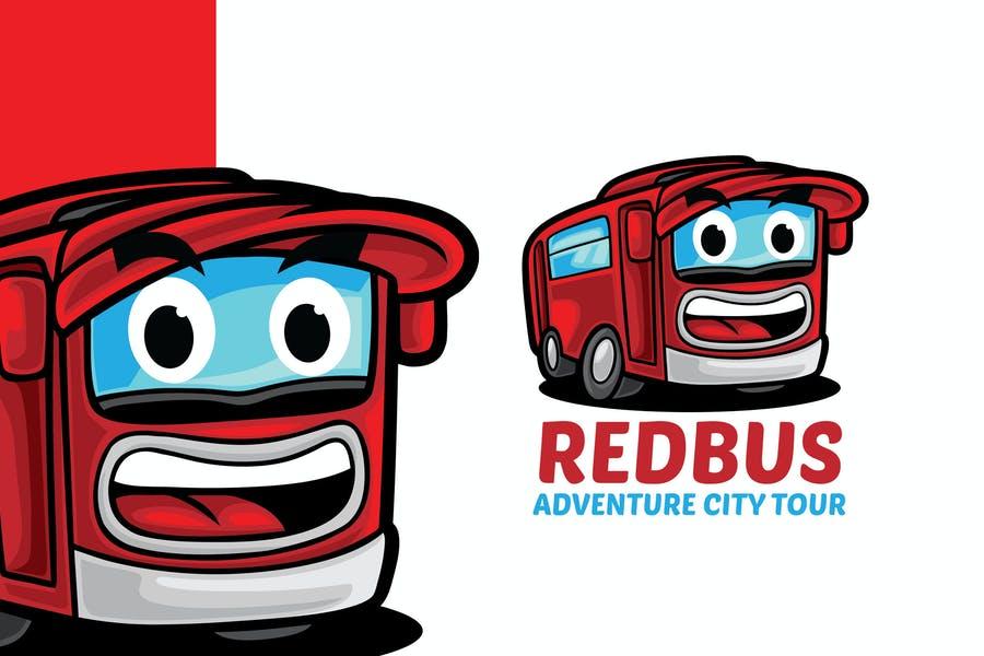 Creative Red Bus Logo Design