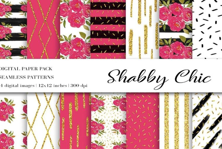 Creative Red Digital Papers