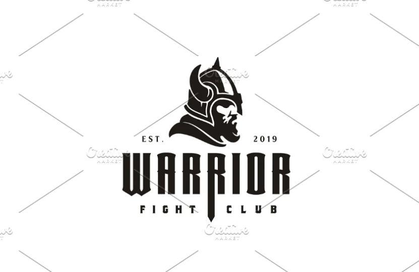 Creative Viking Helmet Logo Design