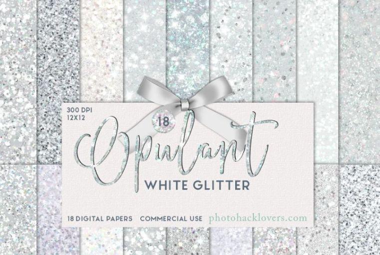 Creative White Glitter Backgrounds
