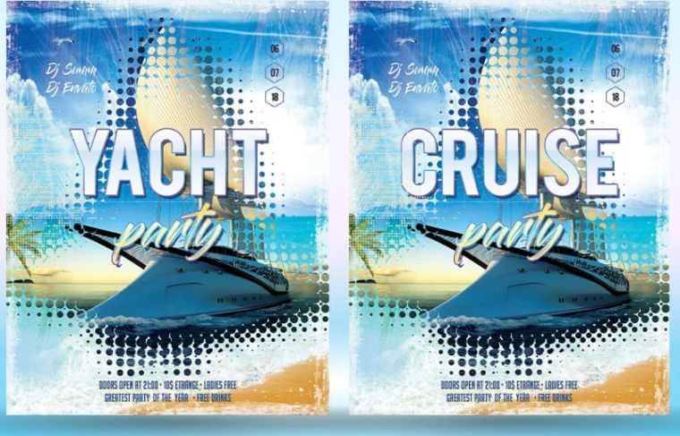 Cruise Party Flyer Templates