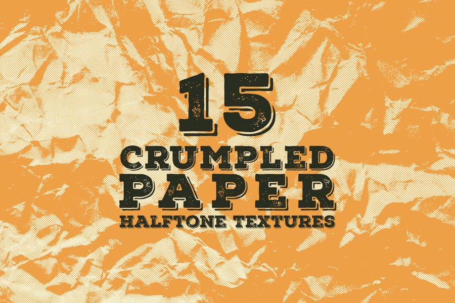 Crumpled Halftone backgrounds
