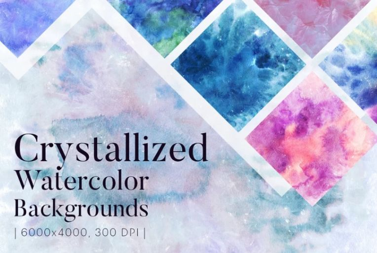 Crystallized Watercolor Background Design