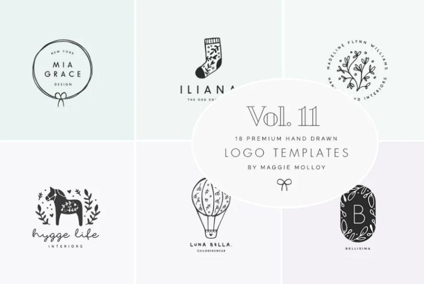 Cute Feminine Logos bundle
