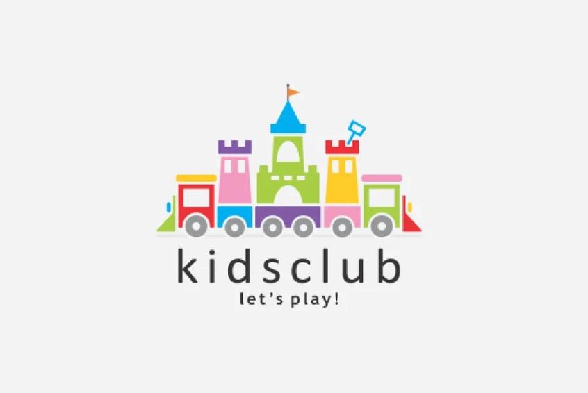 Cute Kids Club Logo Design