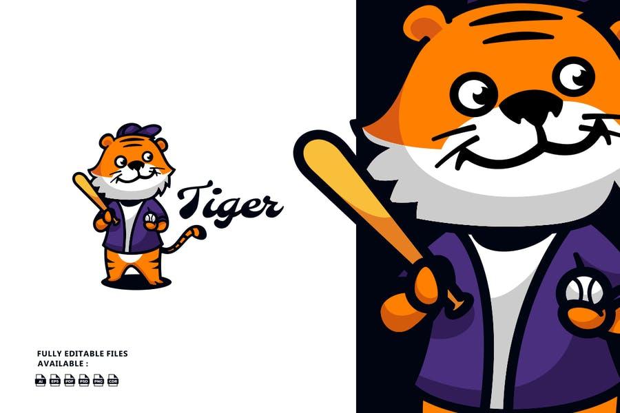 Cute Tiger Concept Logo