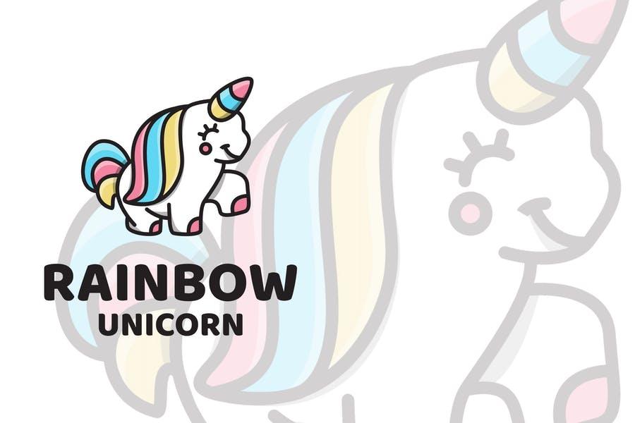 Cute Unicorn Logo Template