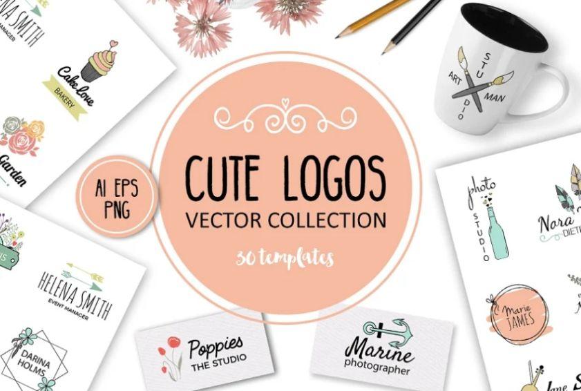 Cute Vector Logo Collection