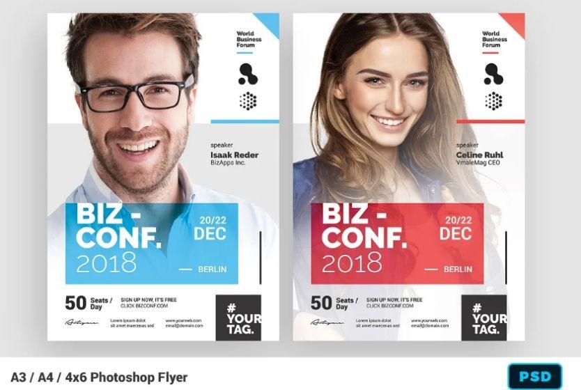 Cutomizable Seminar Flyer Template PSD