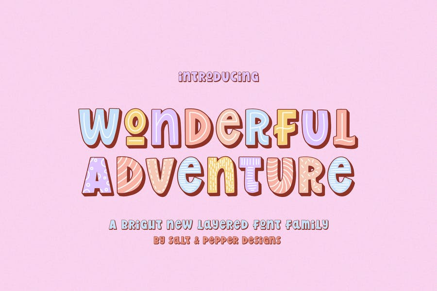 Cuute and Colorful Font Family