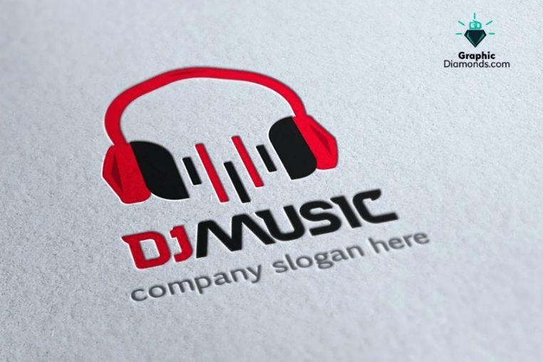 DJ Music Logo Designs