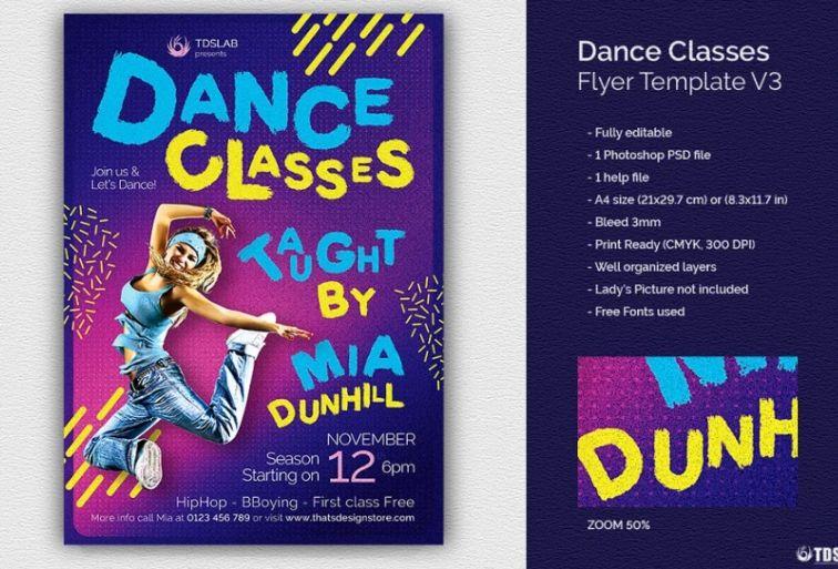 Dance Classes Promotional Leaflet