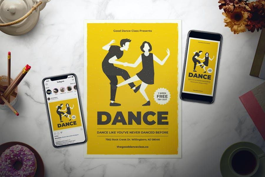 Dance Classes Promotional Set
