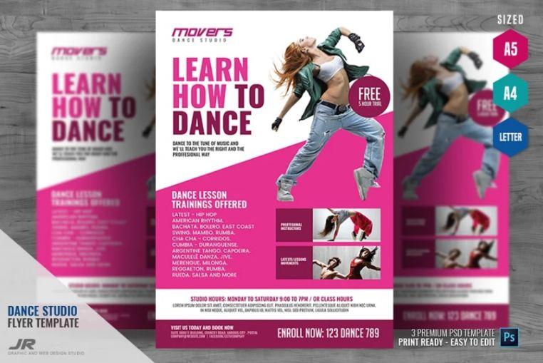 Dance Studio Flyer Template PSD