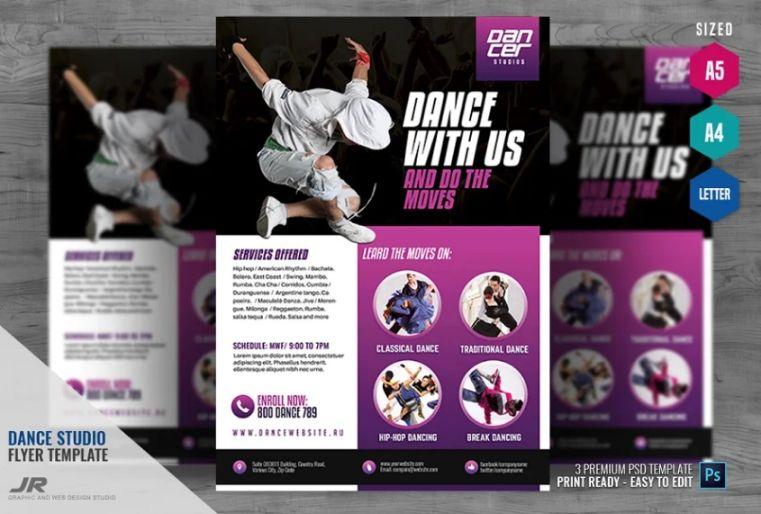Dance Tutorial Services Flyer