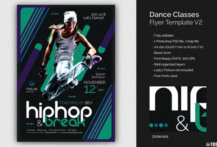 Dancing Classes Flyer Template