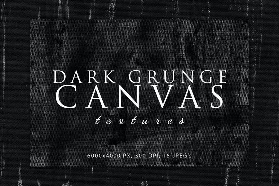 Dark Grunge Canvas Backgrounds