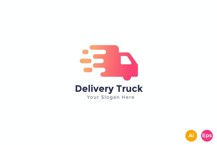 Delivery Truck Logo Identity