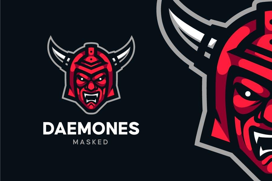 Demon Helmet Logo Design
