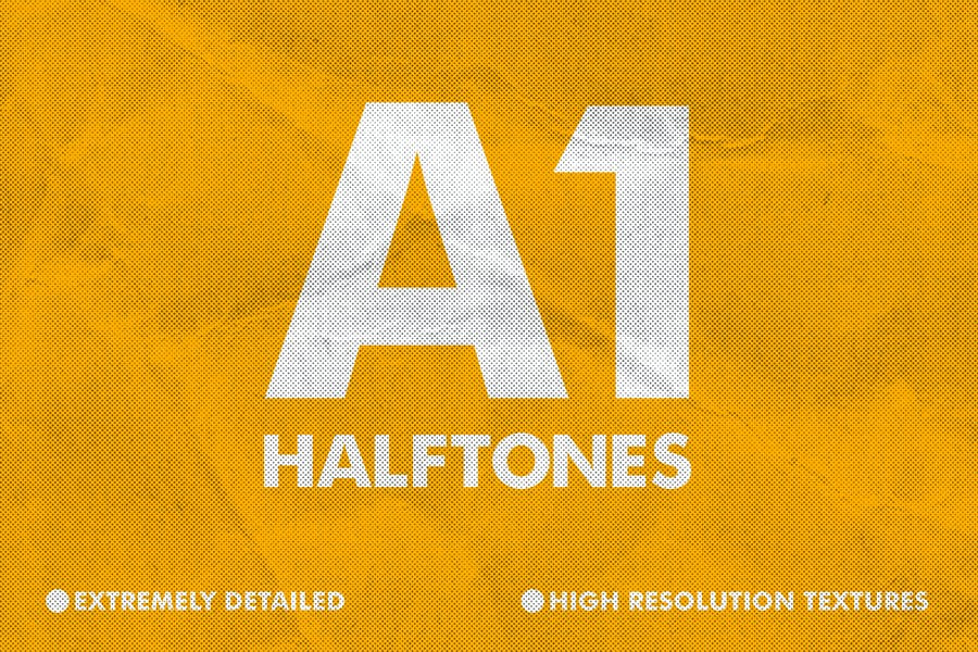 Detailed Halftone Textures