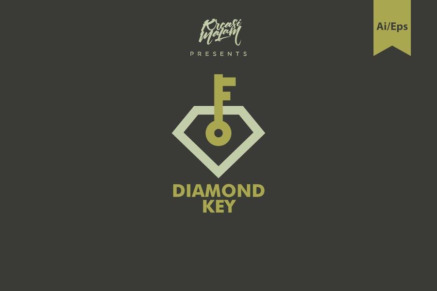 Diamond Key Logo Identity