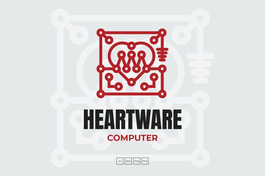 Digital Computer Logotype design
