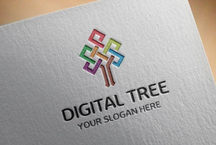 Digital Tree Logo Designs
