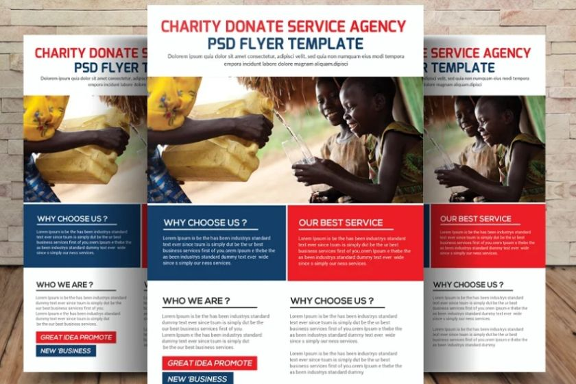 Donation Service Flyer Template