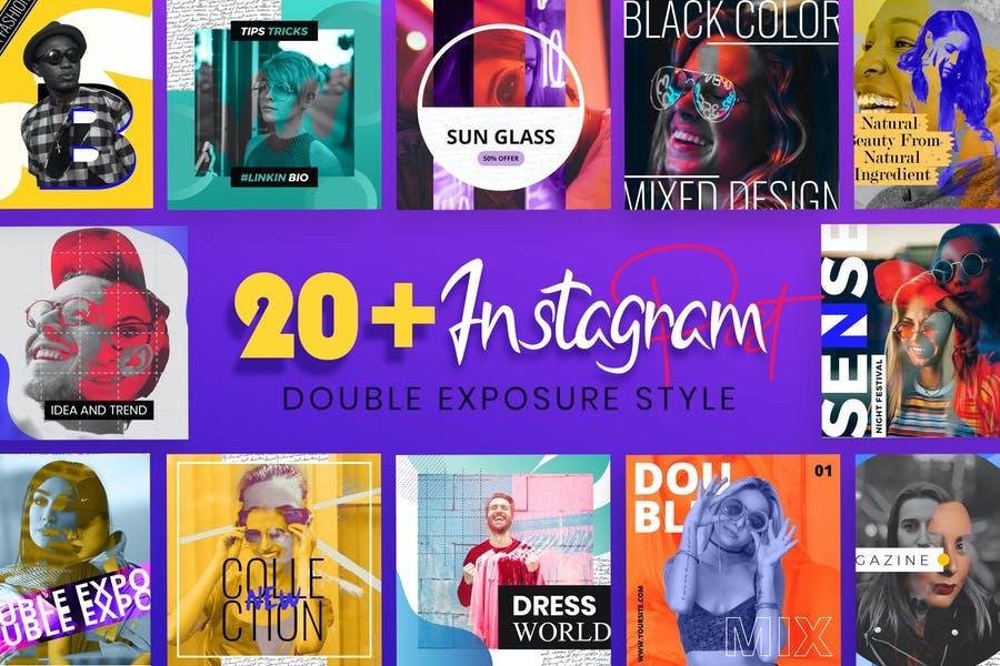 Double Exposure Instagram Post Templates