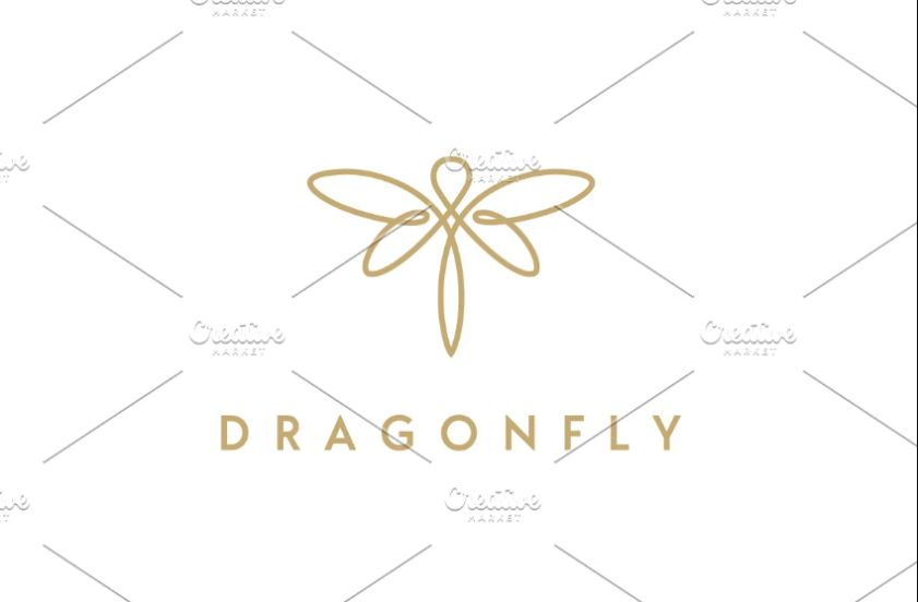 Dragon Fly Style Logo Design
