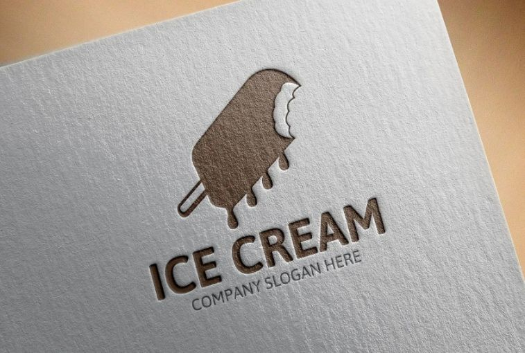 Dripping Ice Cream Logotype