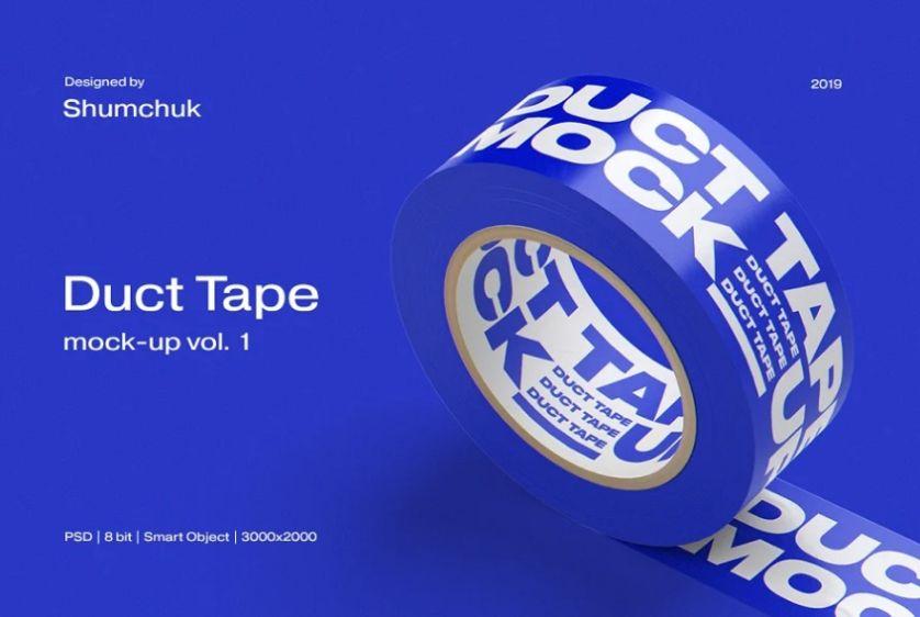 Duct Tape Mockup PSD