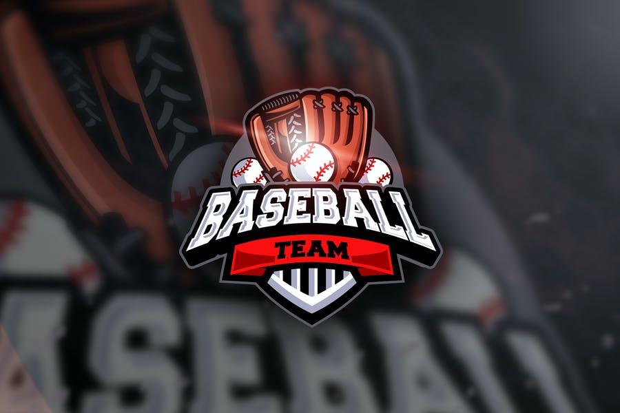 E Sports Baseball Logo Design