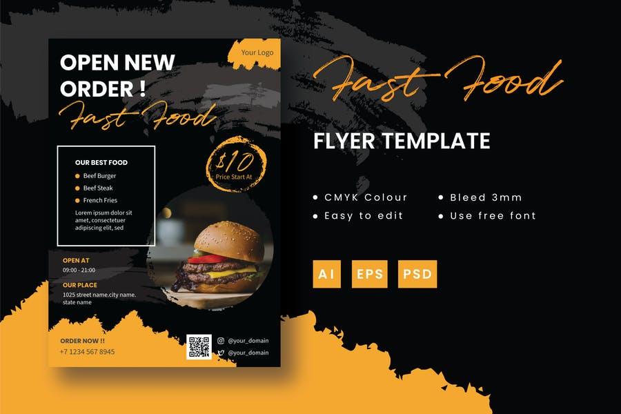 Easy Editable Fast food Flyer