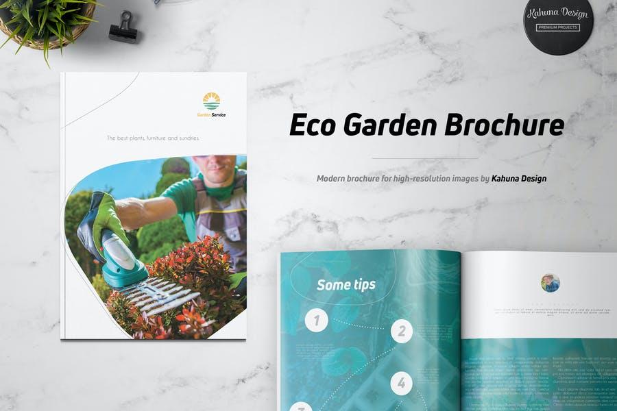 Eco Garden Brochure Template