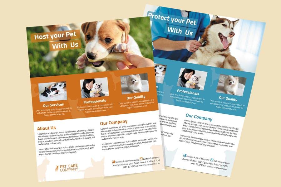 Edit Pet Care Flyers