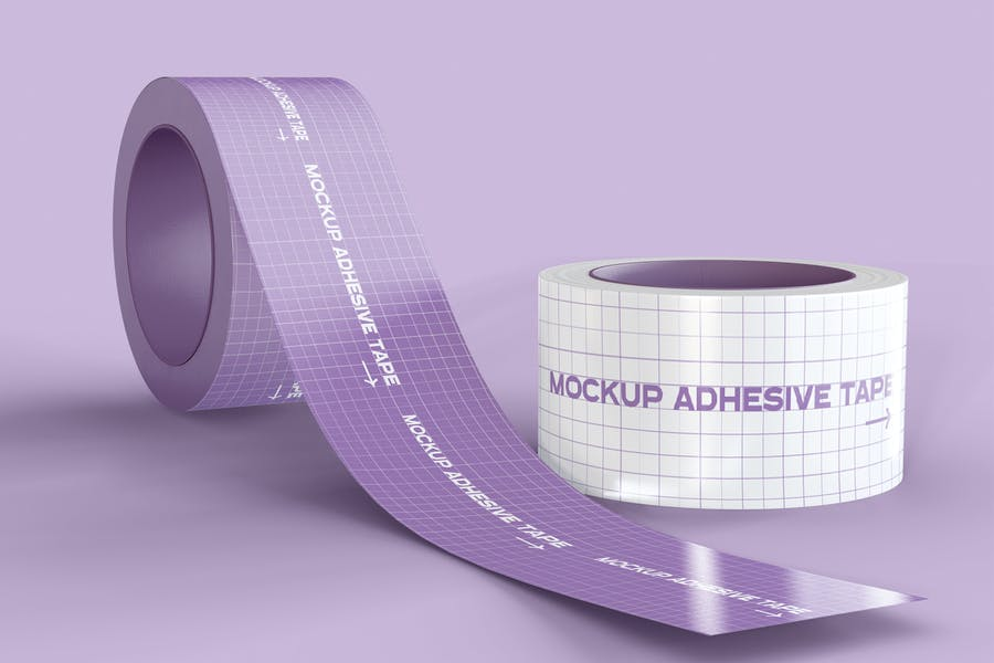 Editable Adhesive tape Mockup PSD