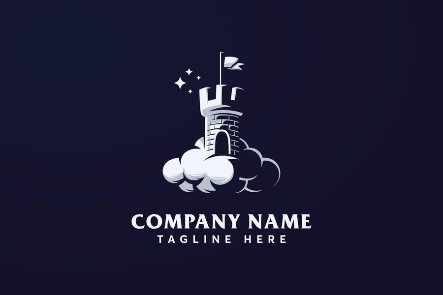Editable Castle Logo Identity Design