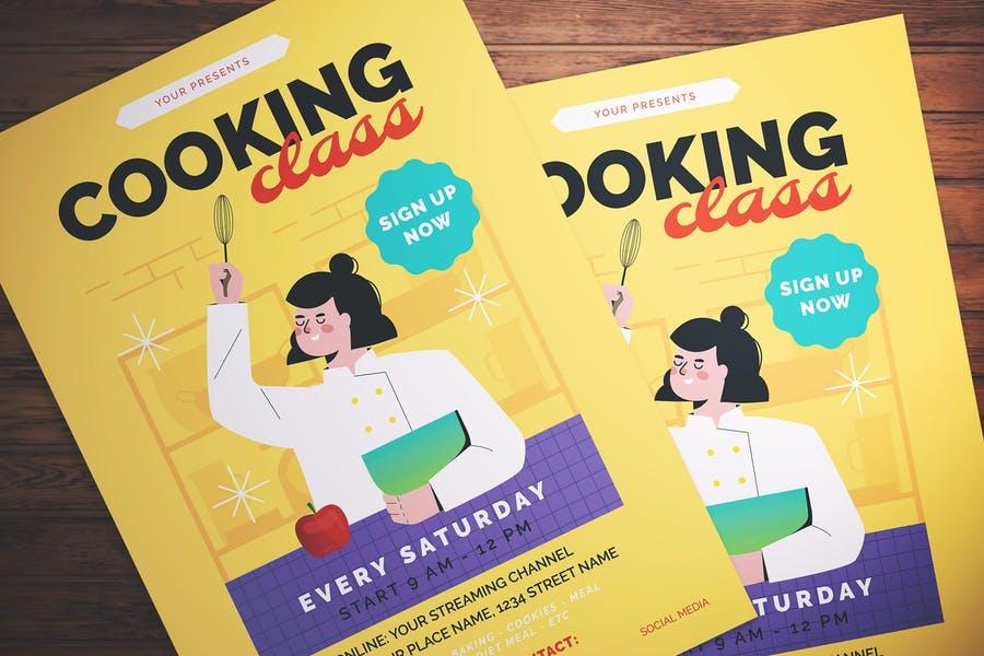 Editable Cooking Class Flyer PSD