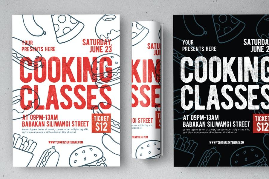 Editable Cooking Classes Flyer